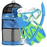 U.S. Divers Dorado JR Mask Fins Snorkel Set, Fun Blue, Medium