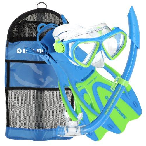 U.S. Divers Dorado JR Mask Fins Snorkel Set