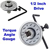New 1/2 Inch Drive Torque Gauge Meter Angle Rotation Measurer Tool Wrench
