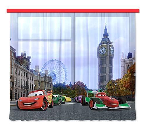 Gardine/Vorhang FCS XXL 7000 Disney, Cars, 280 x 245 cm, 2-teilig