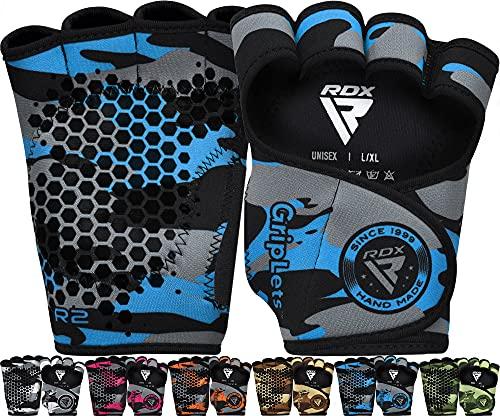 RDX Guantes Gimnasio Pesas Sports Fitness Guant con Agarre Extra Protección Completa...