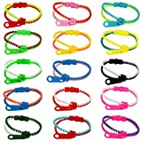 75-Pack Party Zipper Bracelets Set,Friendship Fidget Bracelets 7.5 Inches Sensory Toys Party Pack By SephireREX,Stress Relief Toys for Birthday Party Favors