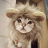 Namsan Mascota Disfraz de Halloween Gato León Melena Perro Disfraz de Halloween para Perros Pequeños, Gatos