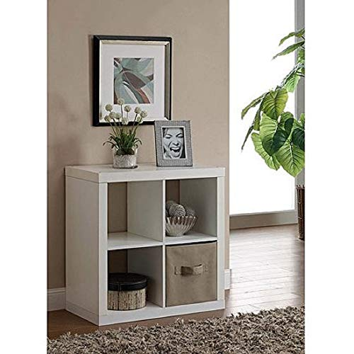 Better Homes & Gardens Square 4-Cube Bookcase (White)