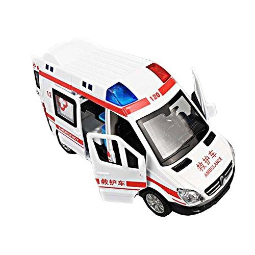 Black Temptation Weiße Kinder Spielzeug Krankenwagen Auto Modell Auto zurückziehen Fahrzeuge