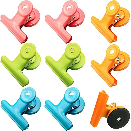 8Pack Magnetic Metal Clips Refrigerator Whiteboard Wall Fridge Magnetic Memo Note Clips Magnets Metal Clip