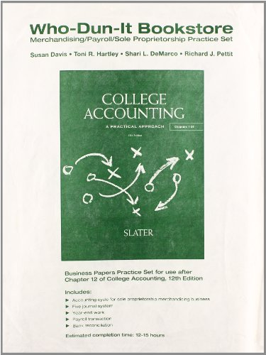 Who-Dun-It Practice Set for College Accounting