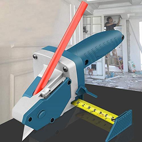 Ezeruier Artefacto de corte de placa de yeso, herramienta de corte, herramienta de corte especial, cortador rápido, herramienta de carpintería multifunción, cinta métrica, dibujo lineal, brújula.