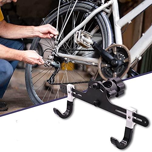 WSZYBAY Montaje en la pared de la bicicleta Horizontal MTB Road Bicicletas de la bicicleta Hanger Hanger Hooks Holder for Garage Indoor Bike Storage Reparación Soporte Bicicleta Almacenamiento Soporte
