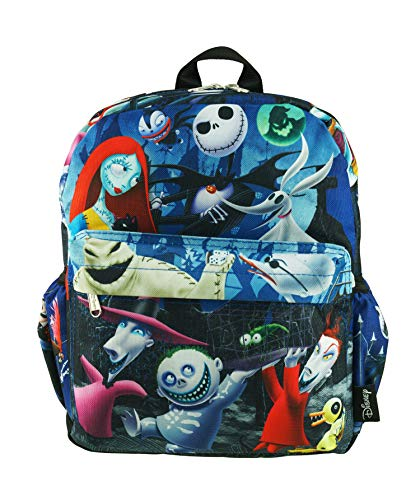 """Nightmare Before Christmas Deluxe Oversize Print 12"""" Backpack - A20273"""