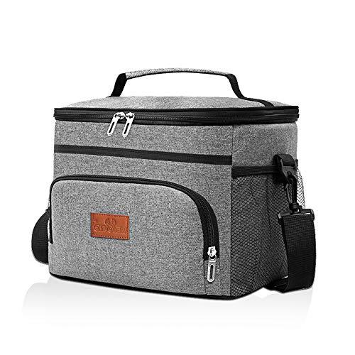 solawill Kühltasche, 16L Thermotasche Faltbare Picknicktasche Isoliertasche mit Abnehm und Verstellbarer Schulterriemen Lunchtasche für den Lebensmitteltransport, Geeignet für Büro, Picknick, Outdoor