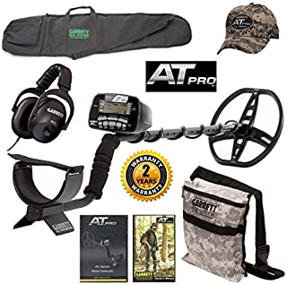 Garrett AT Pro Metal Detector, All Purpose Detector Carry Bag, Camo Diggers Pouch,