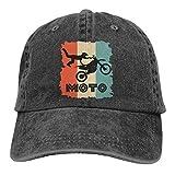 Hoswee Gorra de Béisbol Ajustable Retro Motocross Adult Trendy Cowboy Hat Sun Hat Snapback Sombreros
