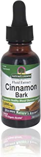 Natures Answer Cinnamon Supplement With Organic Low Alcohol 1 Fluid Ounce | Maintains Blood Sugar | Joint Mobility Support...
