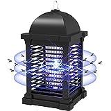 PALONE Lámpara Antimosquitos Electrico, 4300V UV Mata Mosquitos Electrico, Mosquito Killer Lámpara con Cepillo Limpio, para Interiores y Exteriores