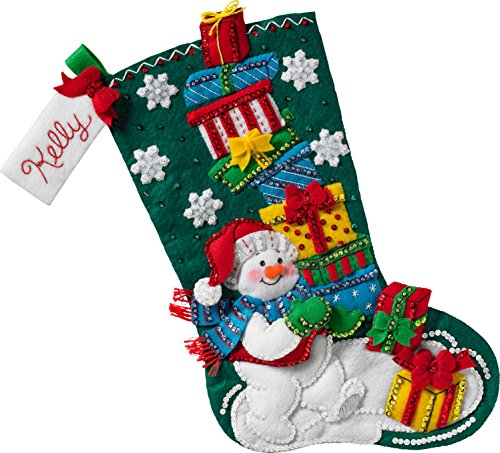 Bucilla Snowman with Presents Stocking Kit
