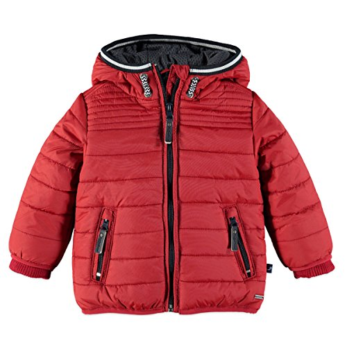 Babyface Jungen Winterjacke mit Kapuze in rot Größe 74