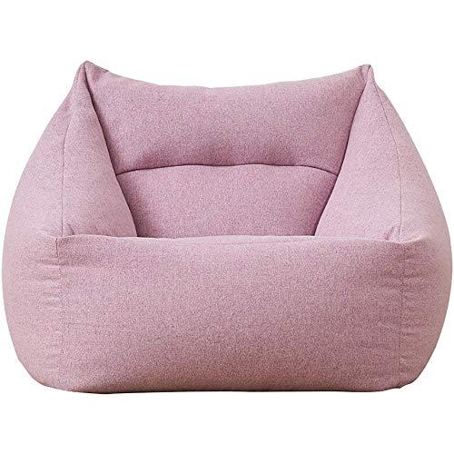Zhenhe nórdico Living room chair cojines de sofá perezosa Puf Sofá desmontable y lavable Lazy Silla Tatami dormitorio chica linda sofá for Relajante juego Lounging (color: rosa, Tamaño: 66 × 66 × 70 c
