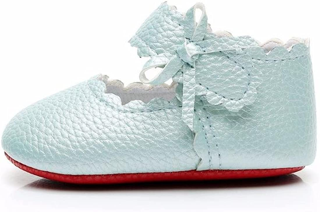 Baby Toddler Newborn Girls Boys Soft Sole Wave Bowknot Shoes Anti-sl