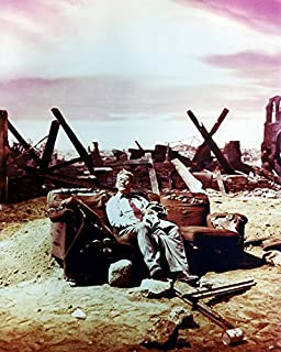 Erthstore 11x14 inch Fine Art Print of The Twilight Zone Tv Show Classic Image Apocalyptic Landscape Time Enough at Last Burges