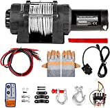 VEVOR Truck Winch 5000lbs Electric Winch Cable Steel 12V Power Winch Jeep Winch with Wireless Remote Control and Powerful Motor for UTV ATV & Jeep Truck Wrangler in Car Lift
