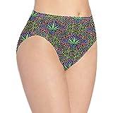 XCNGG Bragas Ropa Interior de Mujer Multicolored Leaves Bosimiya Style Underwear Women Ladies Briefs Comfortable Panties for Women