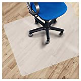 Office Marshal PVC Chair Mat for Hard Floors - 48' x 52' | Multiple Clear/ Frosted, Multi-Purpose Floor Protector