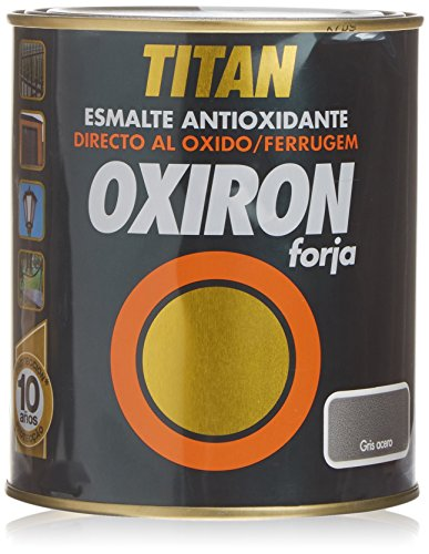 Titan 020020234 Bote Pintura Forja, Gris, 750 ml