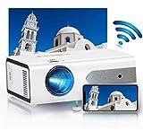 HOLLYWTOP Proyector Cine en Casa WiFi , Mini Proyector Portátil 4200 Lúmenes con Pantalla de 180'' máx, 60000 Horas de Vida útil de la Lámpara, Ayudas 1080P USB/ HDMI/ SD/ AV/ VGA【2020 ACTUALIZAR】
