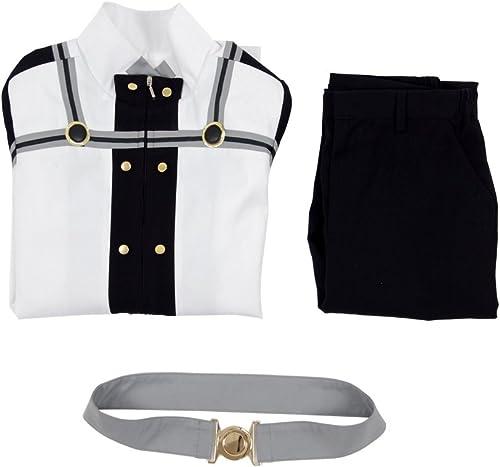 YeWeißAnime Schwert Role Tung Kostüm Herren Weiß Kampf Uniform Kostüm Outfit