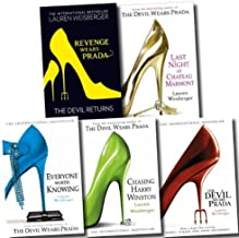 The Devil Wears Prada Collection Lauren Weisberger 5 Books Set (Revenge Wears Prada: The Devil Returns, Chasing Harry Wins...