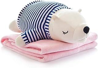 Almohada cervical Forma de la historieta del algodón de seda de relleno de almohadas con franela manta Inicio muñeca de juguete cervical dormitorio de almohadas for dormir for los niños Abrazo sleep c