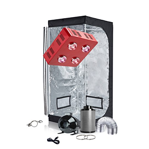 """TopoGrow Grow Tent Complete Kit Package 800W LED COB LED Grow Light Full-Spectrum, Indoor 32""""X32""""X63"""" Grow Tent,4"""" Ventilation kit Hydroponics Tent System"""