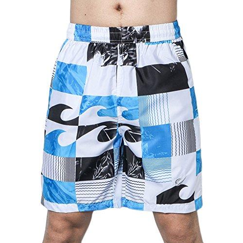 Short De Bain Homme Bermuda Taille Elastique Séchage Rapide Shorts De Sport Plage Grande Taille Bleu S