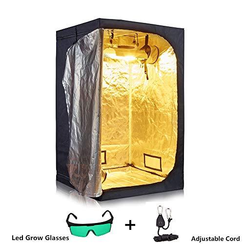 WUIO LED Grow Light, Indoor Hydroponics Grow Tent,Grow Room Box Plant Grow, Reflective Mylar Garden Greenhouses,100X100X200cm