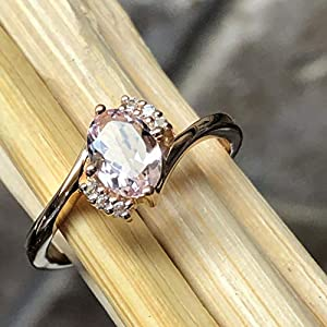Natural 1.25ct Peach Morganite 14k Rose Gold Over Sterling Silver Engagement Ring
