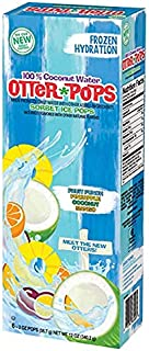 100% Coconut Water Otter Pops Sorbet Ice Pops, 2 Pack (6-2oz Pops)