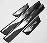 YANXS 4PCS Stainless Steel Door Sill Protector for Mazda Cx-5 Cx 5 Cx5 2013~2021, Car Door Guard Pedal Cover Non-Slip Anti-Scratch Protector Trim Stickers