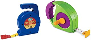 Learning Resources Play Tape Measure, 3 Feet Long, Construction Toy, Easy Grip, Ages 3+,Multi-Color & Simple Tape Measure,...