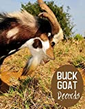 Buck Goat Records: Medical Information, Kidding Record, Record of Progeny, Gifts for Owners, Men, Women, Farmers, Adults, For Birthday, Christmas, Thanksgiving, New Year, (Goat Buck Breeding Log)