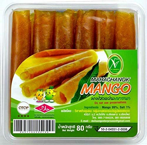 6 Packs Mahachanok Mango, Mango Sheet, dried mango paste.