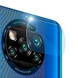 OcioDual Protector para Cámara Trasera Compatible con Poco X3 Pro/NFC Fibra de Vidrio Lente Principal Cobertura Antiarañazos