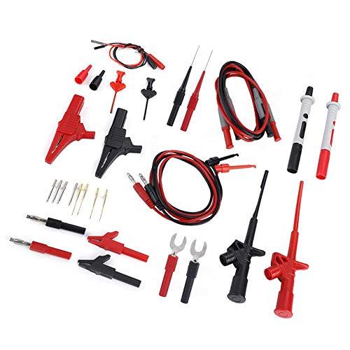 L-YINGZON Multímetros eléctrico Prueba Electrónica Cables Kit, prueba de medidor de 4 mm enchufe de plátano electrónica multímetro multi cable de la sonda Juego de cables Herramientas de Prueba y Medi