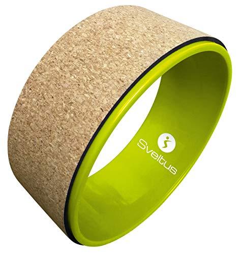 sveltus Roue de Yoga liège hjul, grön/kork, en storlek