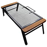 Camping Grill Net Table, Handle Design, Easy to Carry, Multi-Functional Cooking Grill, Very Suitable for Campfire Or Brazier.