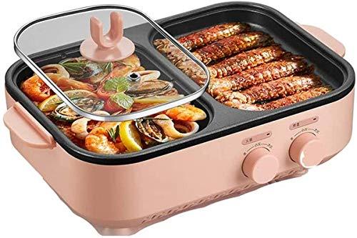 XY-M Pentola da Cucina Multifunzione Arrosto di frittura della griglia della griglia della griglia Coreana della griglia della griglia della Coreana 2 Panni da Cottura con Coperchio 1200w