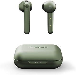 Urbanista Stockholm Plus True Auriculares inalámbricos – Más de 20 horas de tiempo de reproducción, IPX4 Auriculares impermeables, Bluetooth 5.0, controles táctiles y micrófono mejorado para llamadas claras, verde oliva