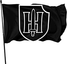 GZzw Qizi 9th SS Panzer Division American Flag 3x5 Ft Printed Polyester Single Sided US Military Banner Outdoor Flags Brass Grommets