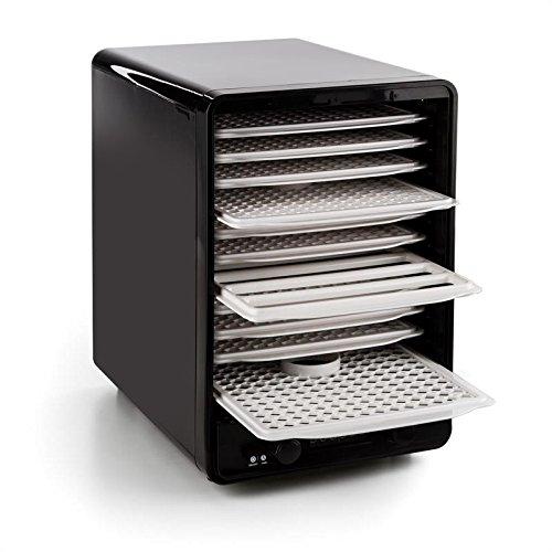 Klarstein Fruitcube Mint Edition Deshidratadora - Máquina secadora de frutas, Desecadora, Temperatura ajustable 40-70 °C, 10 bandejas, Circulación de aire, Temporizador, Fácil de lavar, Roja