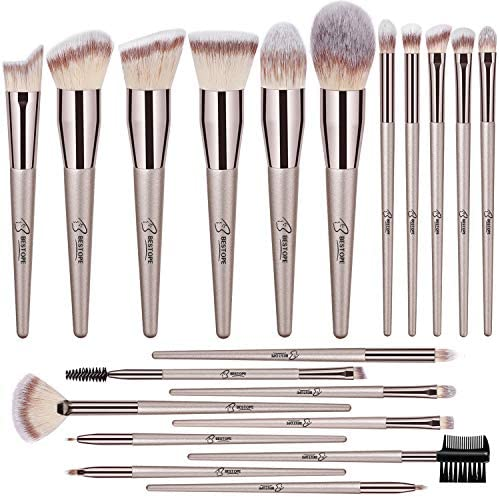 BESTOPE 20PCs Makeup Brushes Premium Synthetic Concealers Foundation Powder Eye Shadows Makeup Brushes Set (Champagne Gold)